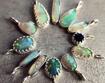 Sterling silver pendants with Australian opals
