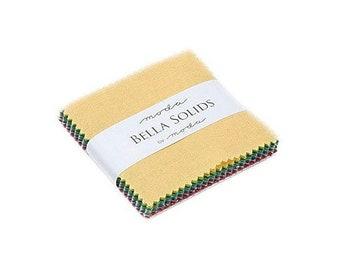 Bella Solids New Mini Charm~2 /12in Squares~27 Squares By Moda