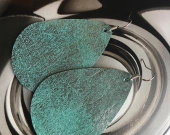 Rupert and Stella LEather Earrings - Patina