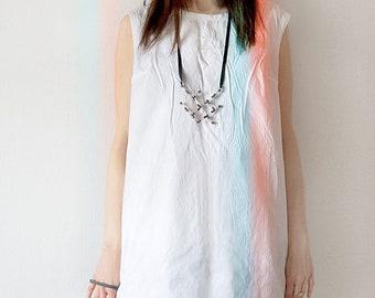 Geek radio girl necklace, radionics lo-fi style minimalist necklace, urban fashion jewelry, shabby chic