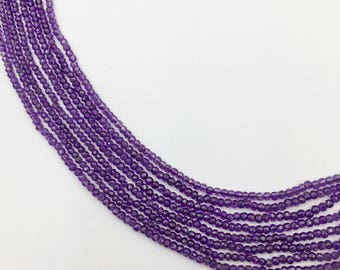 """Amethyst Faceted Oval Beads 16""""  (Multi sizes)"""