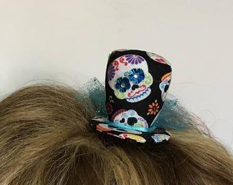 Mini Hat - Day of the Dead - Dia de Los Muertos - Sugar Skull