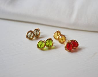 Colorful little earrings, jewelry to wear everyday, surprise mother's Day gift idea, small graduation gift