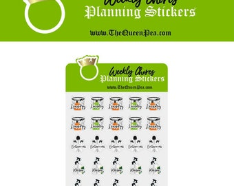 Weekly Chores Planner Stickers