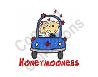 Honeymooners - Machine Embroidery Design, Bride and Groom, Newlyweds
