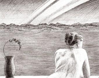 Muse II. Original Drawing.