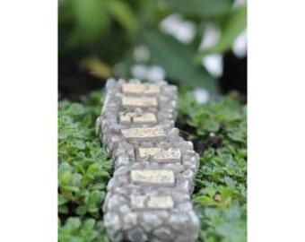 Miniature Stone Rock Walkway Path for Fairy Gardens or Miniature Gardens Fairy Garden Decor