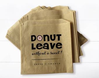 Wedding Donut Pastry Bag -  Donut Leave