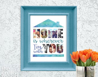 Home is Wherever I'm With You Custom Poster Print - Digital File