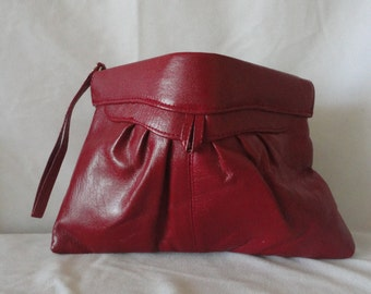 PreOwned Red Leather Clutch*******.