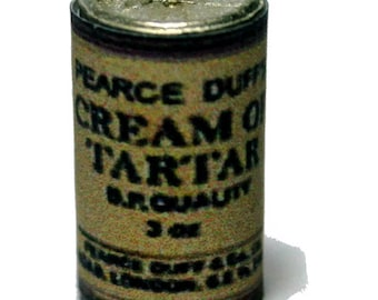 Pearce Duff Cream Of Tartar Tin Dolls House Miniature