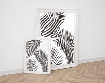 Wall Art Prints - White Palm