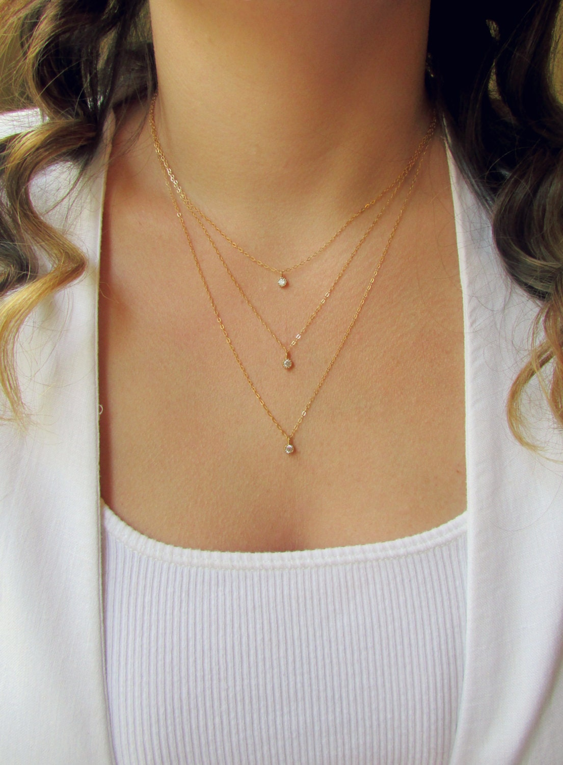 Tiny Silver Disc Necklace