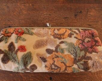 1950's Carpet Bag Style Clutch Purse