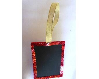 Mini Blackboard / Chalkboard Gift Tag, in Red Velvet 3v