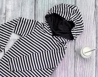 Kids hoodie Toddler hoodie Baby boy hoodie Baby girl hoodie Toddler hooded shirt Monochrome baby Striped hoodie Baby Boy Sweatshirt