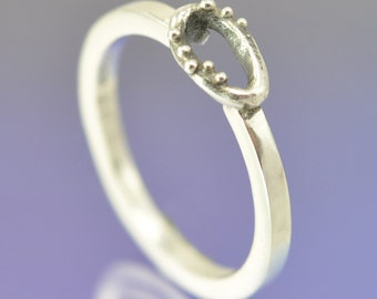 Dotty Stacking Silver Ring