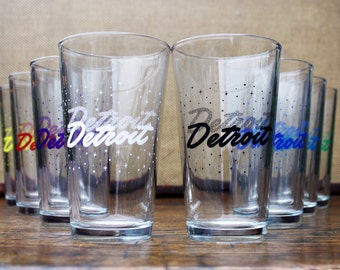 Detroit Galaxy Pint Glass