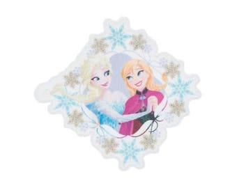 Anna and Elsa Iron On Applique, Genuine Disney Iron On Patch, Frozen Patch, Princess Patch, Princess Applique, Disney Applique, Kids Patch