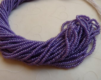 One hank of Czech Silk Blue Violet seed beads - 0701 size 11