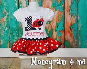 Ladybug Birthday Shirt Dress, 1st Birthday, Ladybug First Birthday