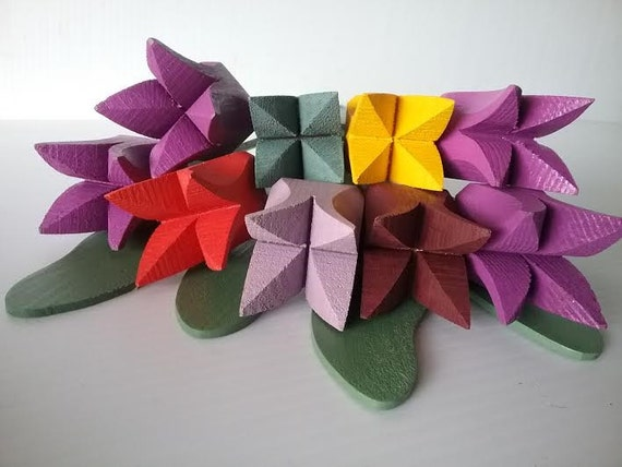 "WOODEN FLOWERS . Bouquet ""Evelina"""
