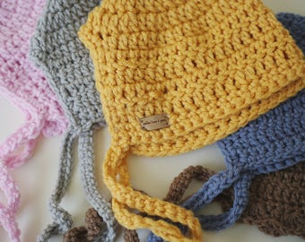 Classic Crocheted Baby Bonnet
