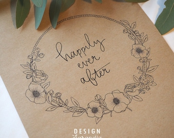 Wedding sign printable Happily ever after