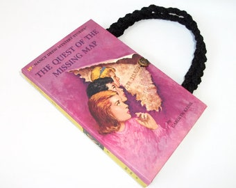 Nancy Drew Book Purse The Quest of the Missing Map Handbag Vintage Book Purse