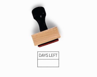 Days Left Stamp | Countdown Idea for Planner for Minimalist Journal | Fill in the Blank | Wood Mounted Rubber Stamp Creatiate | BJ1