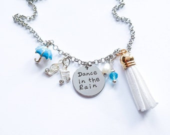 Dance in the Rain Charm Tassel Necklace