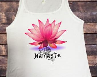 Jersey Tank Top Zen Lotus Flower Namaste Spiritual Meditation Yoga JTK107