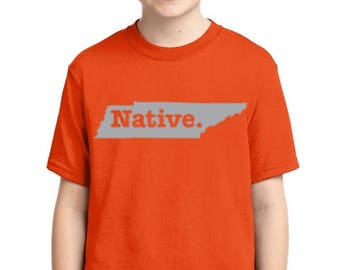 Tennessee Native State - Youth T-shirt
