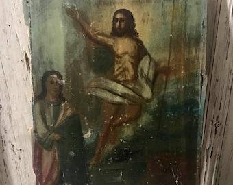 Antique oil Painting Jesus Painting 1900