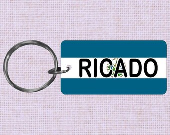 Personalized El Salvador Country flag keychain