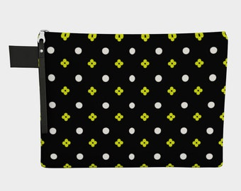 Graphic Black and Yellow | Carry All | Craft Case | Travel Case | Art Case | Brush Bag | Accessories | Large Organizer