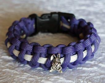 Purple Easter Bunny Paracord Bracelet - Medium Custom Cobra Survival Bracelets
