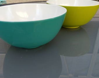 Teal and Green Bowls