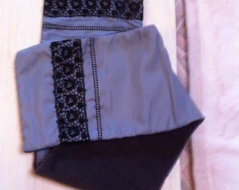 SCARF scarf taffeta and grey fleece