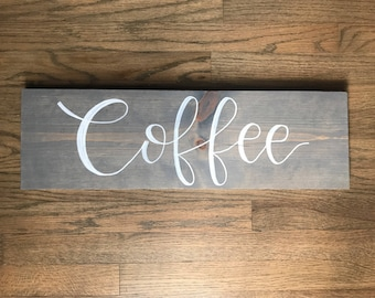 Grey coffee sign