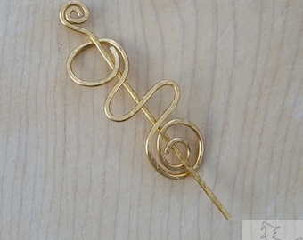 Handmade Wirework Shawl Pin
