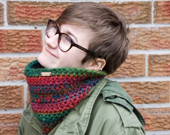 Cowl Scarf for Women, Neck Warmer, Chunky Scarf, Thick Scarf, Colorful Cowl, Gift for Her