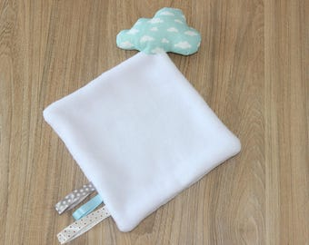 Cloud blanket, blue and white tone