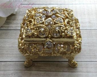 Beautiful Swarovski Crystal Ring Box