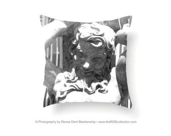 Mighty Proteus Pillow - Original Black and White Textile