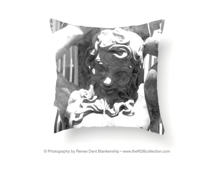 Mighty Proteus Pillow - Original Black and White Textile