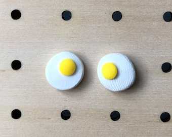 Egg polymer clay earrings