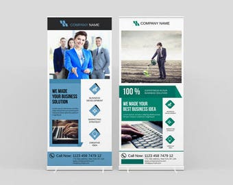 RollUp Banner   Corporate Rollup banner   InDesign and Illustrator Template