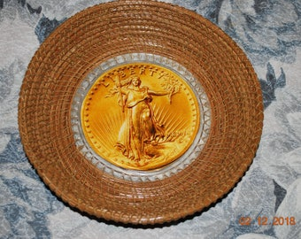 "Pine Needle Basket ""Double Eagle"""