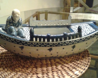 Large Japanese Boat With Man